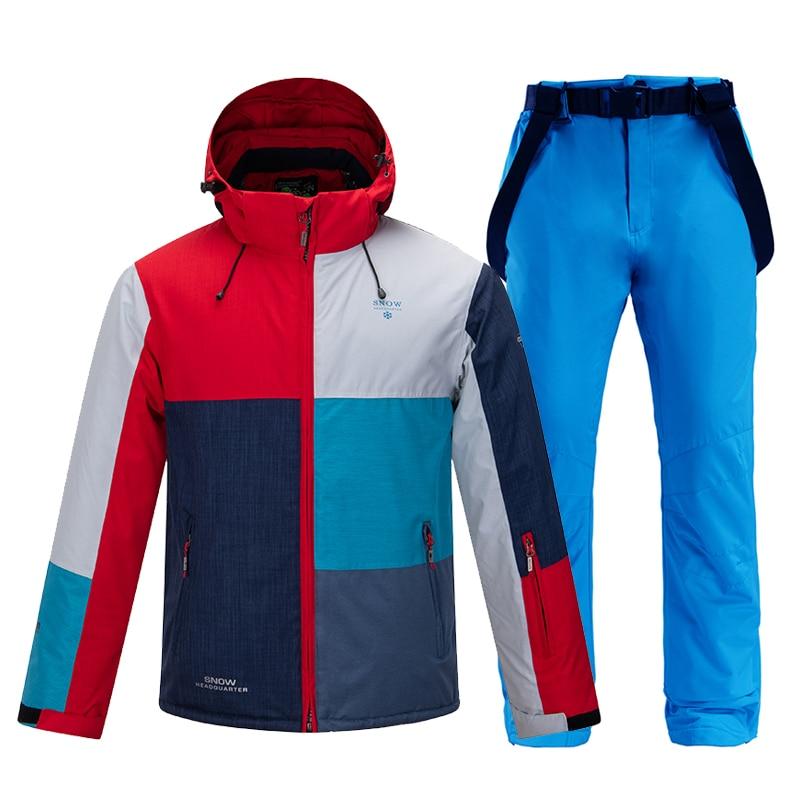 New Men Ski Jacket Winter Snowboard Suit Men's Outdoor Sport Warm Waterproof Windproof Breathable Clothes Hooded Ski Coat