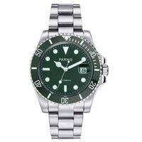 Parnis 40mm Green Bezel Men Automatic Mechanical Watch Ceramic Diver Steel Miyota 8215 Movement Mens Watches marque de luxe 2019|Mechanical Watches| |  -
