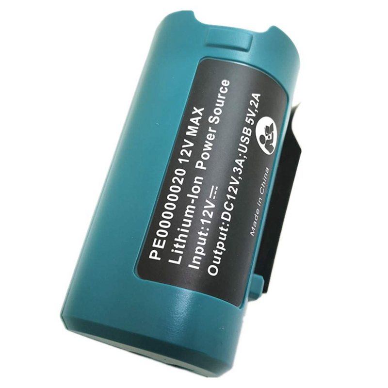 Usb Power Source for <font><b>Makita</b></font> Pe00000020 Heated Jackets Charger <font><b>Adapter</b></font> Converter 10.8V/<font><b>12V</b></font> Lithium-Ion Bl1013 Bl1014 image