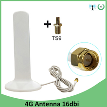цена на 3G 4G LTE Antenna 16dbi SMA male TS9 Connector 2M Cable wifi antenna for Huawei 3G 4G LTE Modem Router antena antenne