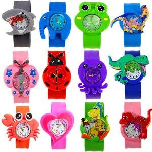 Flap Strap Cartoon Dinosaur Unicorn Children Watch Electronic Boys Watch for Girls Birthday Party Gift Clock Baby Kids Watches