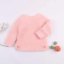 Baby Girl Sweater Heart Print Christmas Newborn Cotton Woolen Boy Girls Cardigan Kids Toddler Sweaters For