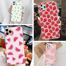 Cute Fruit Print DIY phone Case cover Shell For Iph