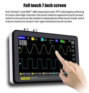 Image 5 - FNIRSI 1013D 디지털 태블릿 오실로스코프 듀얼 채널 100M 대역폭 1GS 샘플링 속도 미니 태블릿 디지털 오실로스코프