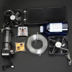 Syscooling Pc Waterkoeling Kit Vloeibare Computer Cooler Kits Voor Cpu Gpu Waterkoeling