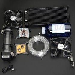 Syscooling pc комплект водяного охлаждения Жидкий Компьютер Кулер наборы для процессора GPU водяное охлаждение