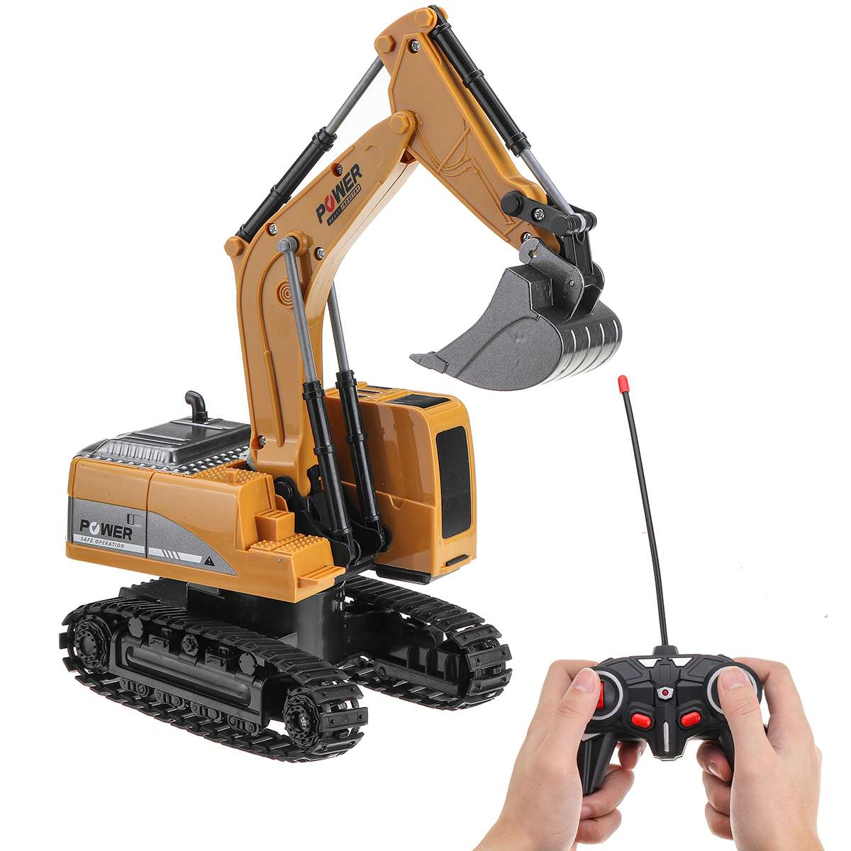 2.4G 1:24 Wireless RC Trucks Excavator 6CH Remote Control Excavator RC Engineering Truck Beach Toy Car Tractor For Boys Gift