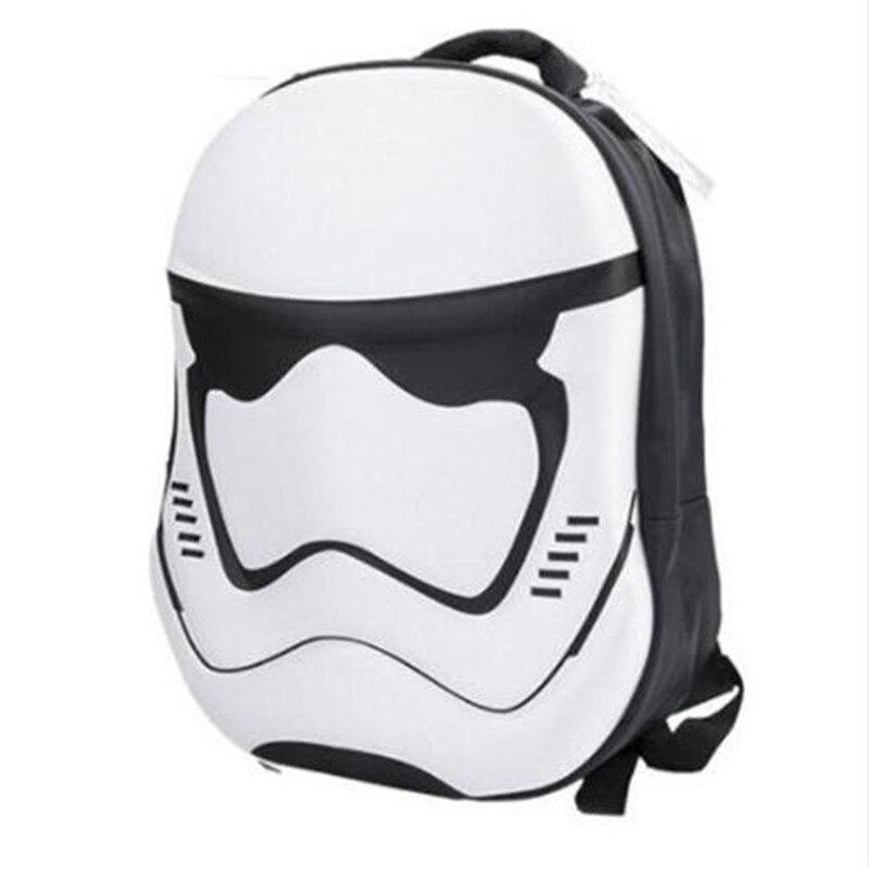 Star Wars Knapsack Darth Vader Stormtrooper Black And White Children's Boys Girls Anime Bag Kid's School Backpack 3D Backpacks