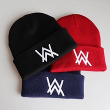 Alan walker winter wool hat Allen Walker embroidery knit hat head cap hip hop ski hat outdoor knit hat men and women knit hat