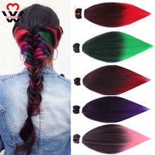 MANWEI Jumbo Braids Hair 26inch Synthetic Crochet Extensions Fiber For Women  Pre Stretched Easy Braiding
