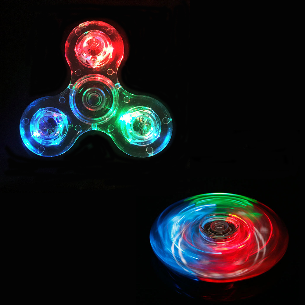 LED Luminous Light Fidget Spinner Hand Top Spinners Glow In Dark Light EDC Figet Spiner Batman Finger Stress Relief Toys