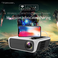UNIC T8 Upgraded Portable WIFI Projector Home Theater Movie Projector 5000lumen for Full HD 1080P HDMI/VGA/USB/Laptop/Smartphone