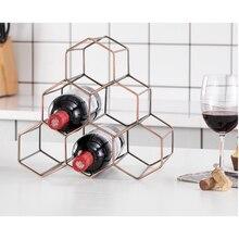 nordic wrought iron honeycomb red wine rack decoration