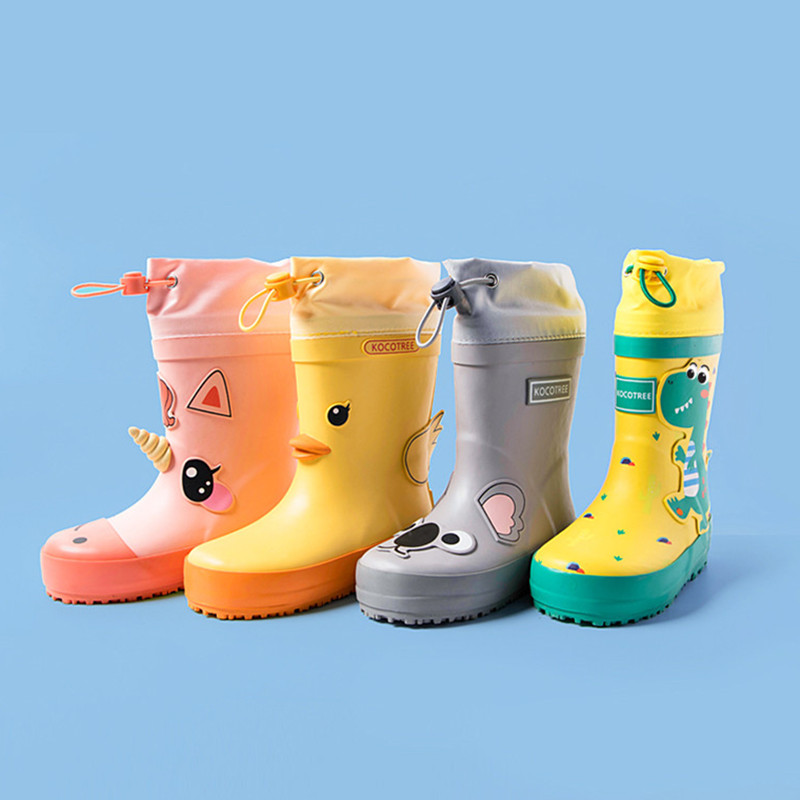 ULKNN Children Rain Boots Kids Girl Cute Unicorn Printed Rubber Boots Kalosze Dla Dzieci Boy Waterproof Baby Water Shoe Factory