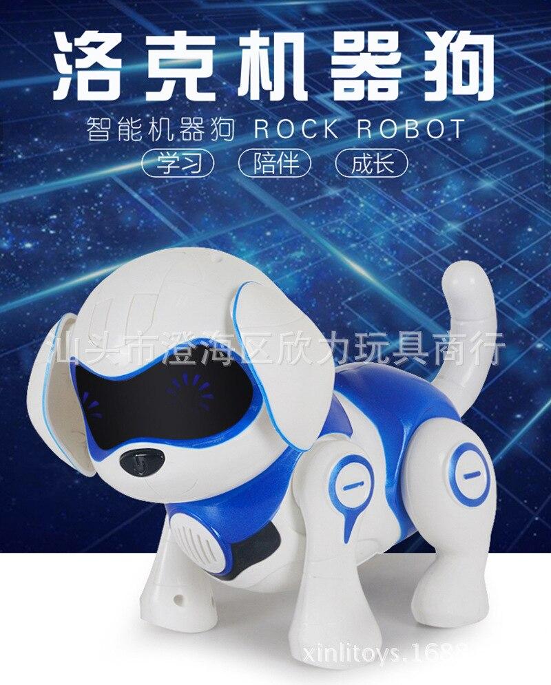 Sensing Touch Locke Intelligent Robot Dog Educational Early Childhood Music Singing Walk Smart Dog CHILDREN'S Toy 961