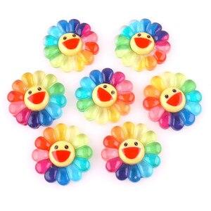10pcs Plastic Smiling Face Sun