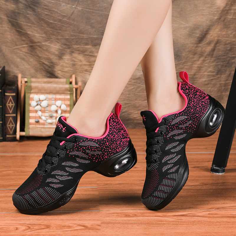 Dancing Shoes Women Breathable Cushioning Jazz Sneakers Lightweight Sport Feature Modern Dance Shoes Girl's Practice Sneakers