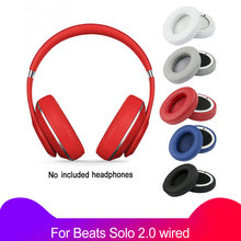 2Pcs/lot Ear Pads Soft Cushion For Beats Solo 2 Solo 2.0 wired version Replacement parts Headphones Sponge Cover Earmuffs Earpad