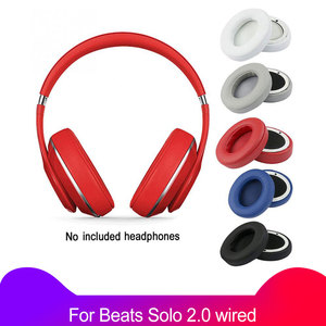 Image 1 - 2Pcs/lot Ear Pads Soft Cushion For Beats Solo 2 Solo 2.0 wired version Replacement parts Headphones Sponge Cover Earmuffs Earpad