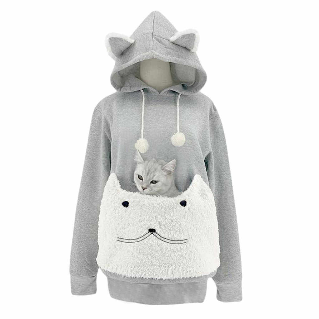 Chat pull à capuche kangourou chien Animal patte sweats à capuche câlin poche Animal oreille à capuche joli élégant Dailywear sweats à capuche