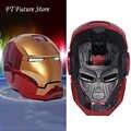 Auf Lager Für Echte Menschen Fans Geschenke 1/1 Skala Eisen Mann MK42 MK3 Maske Helm Automatische Auf off Cap modell MK7 Upgrade Version