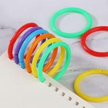 20 шт 35 мм креативные пластиковые круглые многофункциональные кольца-скоросшиватели для DIY фото скрапбукинга альбом книга офис