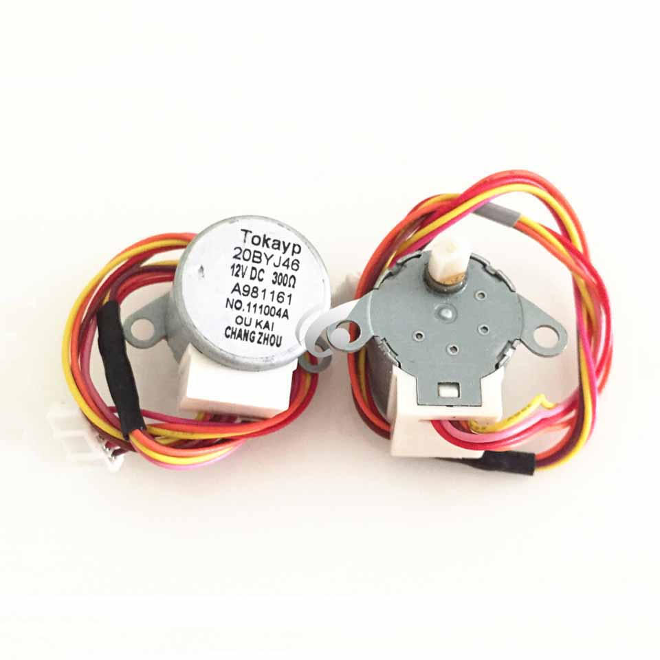 New 2pcs/lot Original For Air Conditioning Drift Swing Wind Motor Stepping Motor 20BYJ46 12V 16V 20-30cm Length