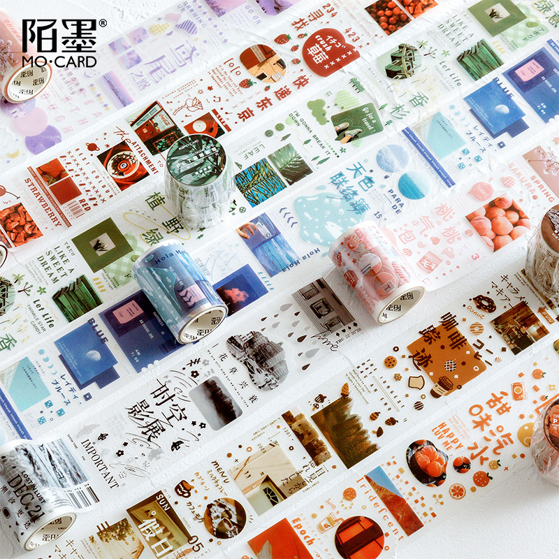 Kyoto Travel Story 6cm Wide Washi Tape Diy Decorative Scrapbooking Masking Tape Adhesive Label Sticker Tape Stationery
