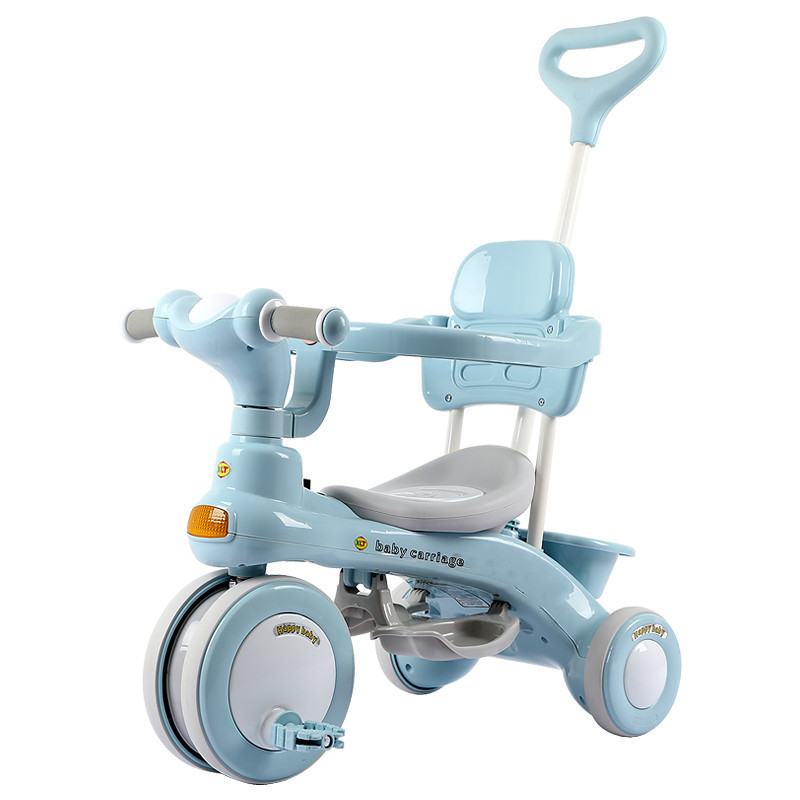 Baby Tricycle Pedal Bike 1-3 Years Old Kids  Ride on Car Walking Tool Three Wheel Bicycle Infant Stroller with Music Light