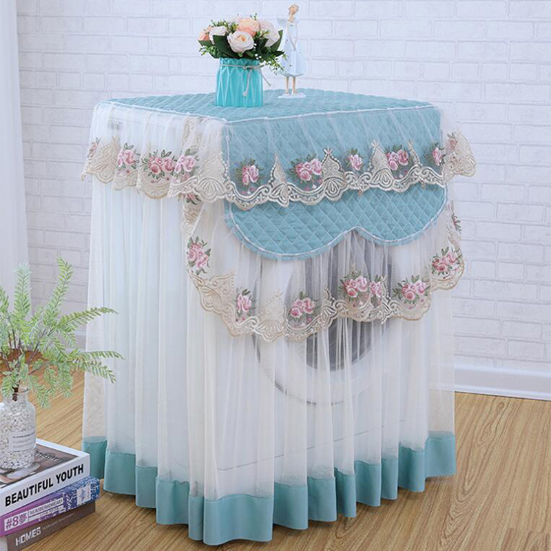 Washable Lace Dust proof Protector Floral style Home Decor Washing Machine Cover 3 Colors Decoration Appliance Protector Case