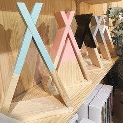 Nordic Kinder Baby Holz Gabel gabel Lagerung Regal Dekorative Für Kinder Zimmer Geschenk Geben Home Wohnzimmer Decor JJJSN11439