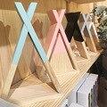 Nordic kids bebê garfo de madeira prateleira armazenamento decorativo para crianças quarto presente dando casa decoração sala jjjsn11439