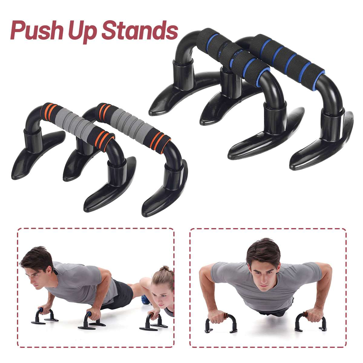 Home Gym Fitness <font><b>Push</b></font>-<font><b>Ups</b></font> Board Stands for Body Building Chest Muscles <font><b>Push</b></font>-<font><b>Ups</b></font> Stands Exercise Training <font><b>Sport</b></font> Equipment image