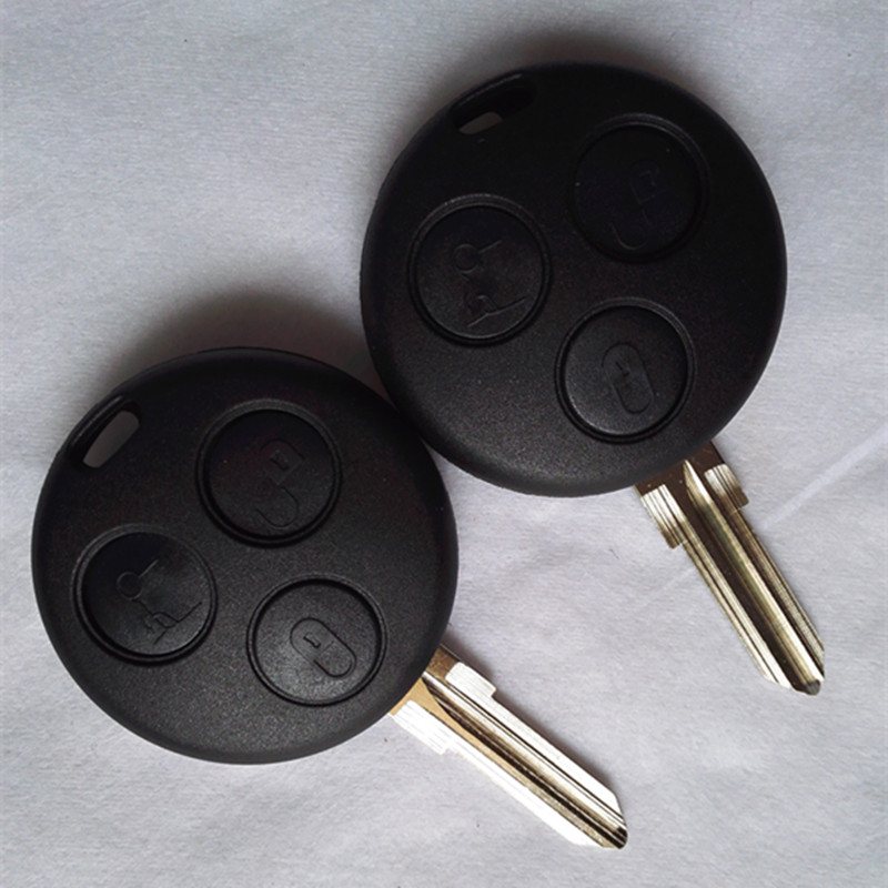 DAKATU Replacement Car <font><b>key</b></font> For Mercedes Benz <font><b>SMART</b></font> Fortwo <font><b>450</b></font> Forfour Roadster Case 3 Button Blank Blade Remote <font><b>Key</b></font> Shell Fob image