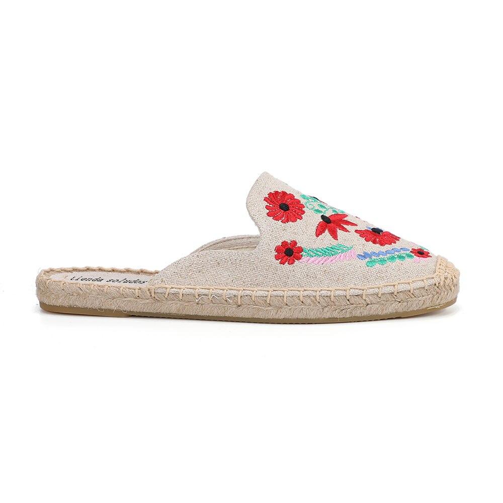 2019 Rushed New Arrival Hemp Summer Flip Flops Pantufas De Pelucia De Bichos Tienda Soludos Espadrilles Slippers For Flat Shoes  4