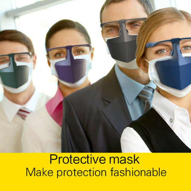 Reusable Antiviral Face Shield Isolated Mask Plastic Anti-fog Seal Mouth Hood Protective Mask 2