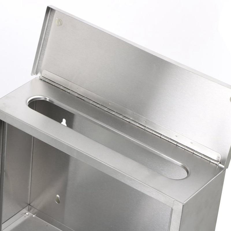 Горячая продажа водонепроницаемый запирающийся почтовый ящик из нержавеющей стали держатель для газет открытый почтовый ящик - 4