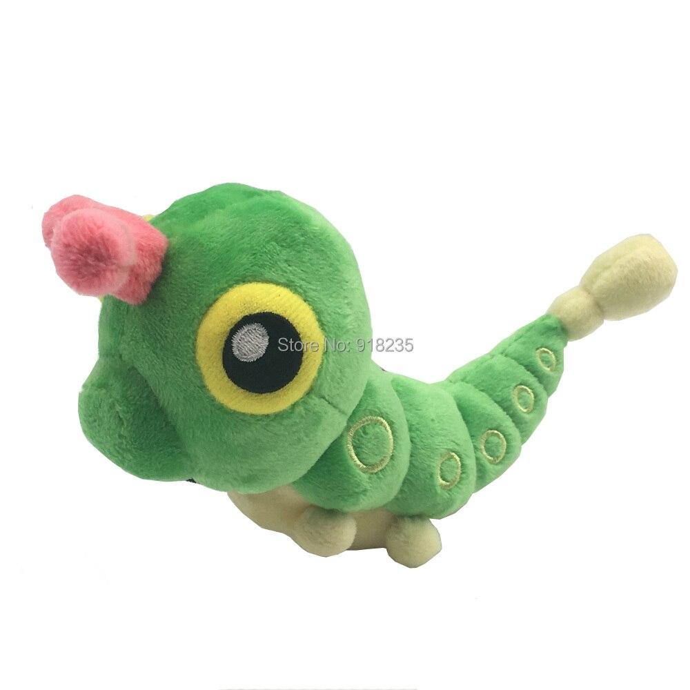 Oyuncaklar ve Hobi Ürünleri'ten Filmler ve TV'de 20/Lot Caterpie 16CM Peluş Bebek Yumuşak Karikatür Bebek noel hediyesi doldurulmuş oyuncak'da  Grup 1