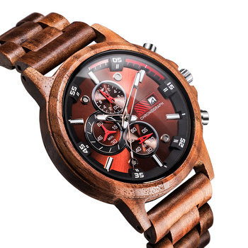 Dad To My Son Wood Engraved Watch I LOVE YOU Just Go Forth and Aim for the Skies