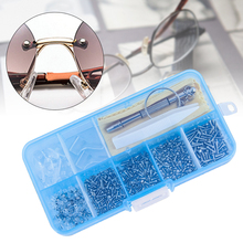 Box Eyeglass Repair Tool Set Micro Screwdriver Nut Tiny Screws Tweezer Spectacles Nose Pads Assortment Portable Practical