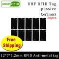 UHF RFID Метка 915 м 868 м EPC ISO18000-6c 20 шт. Бесплатная доставка инструменты управления 12*7*1 2 мм тонкая керамика пассивные RFID метки