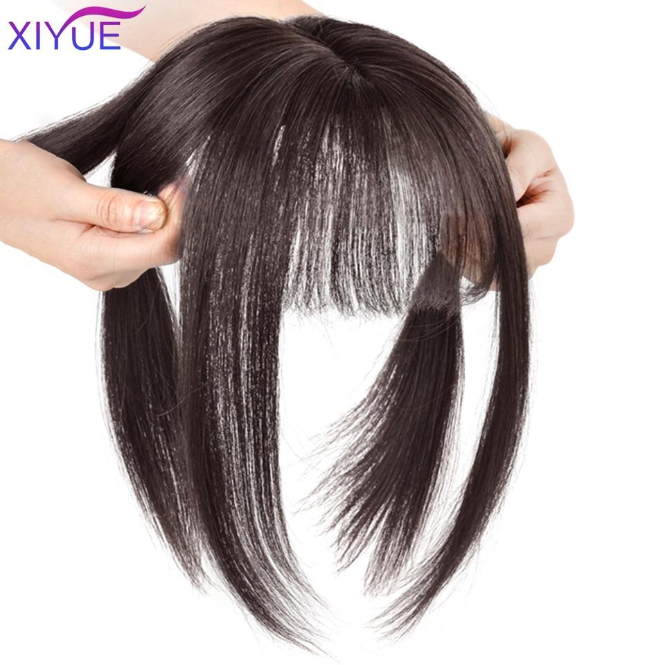 Объемная воздушная челка, верхняя часть волос, челка, ручная работа, половинный парик, прямой натуральный пушистый невидимый бесшовный смен...