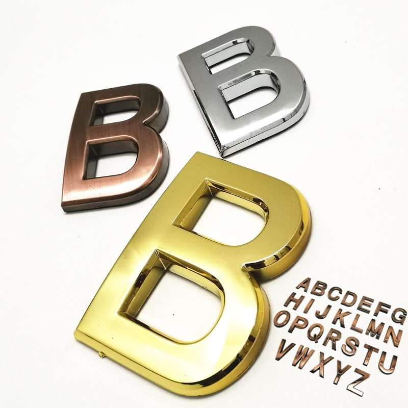 3D табличка с буквами на английском языке, 3 цвета