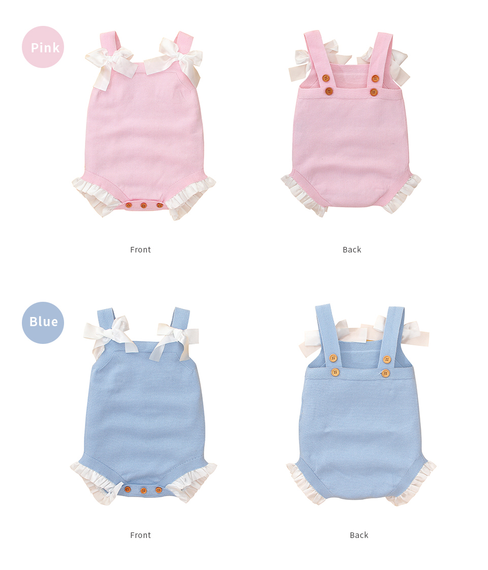 Baby Girls Sleeveless Bodysuits 5
