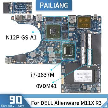 CN-0VWD41 para DELL Alienware M11X R3 LA-6961P 0VWD41 SR0D3 i7-2637M, placa base...