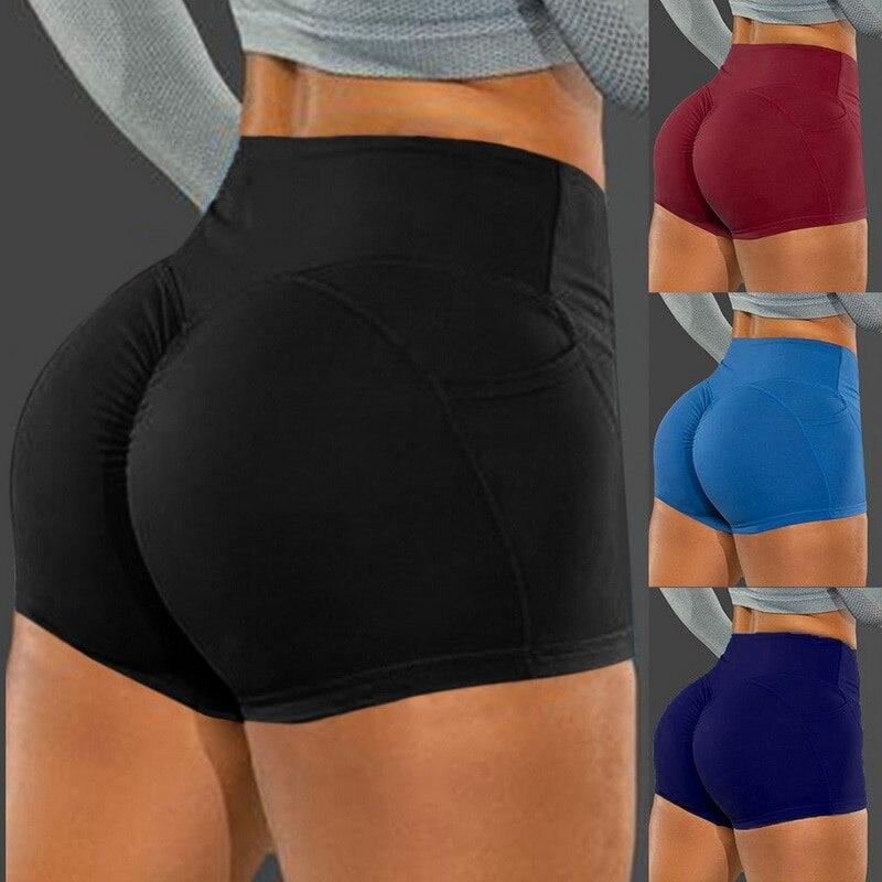 SFIT летние спортивные шорты женские с высокой талией эластичные бесшовные леггинсы для фитнеса пуш-ап трико для тренировок в тренажерном за...