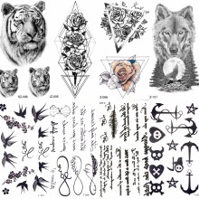 Sexy Feather Words Black Letter Temporary Tattoo Girl Finger Body Arm Art Drawings Tattoo Sticker Men Makeup Hand Tatoo Children(China)