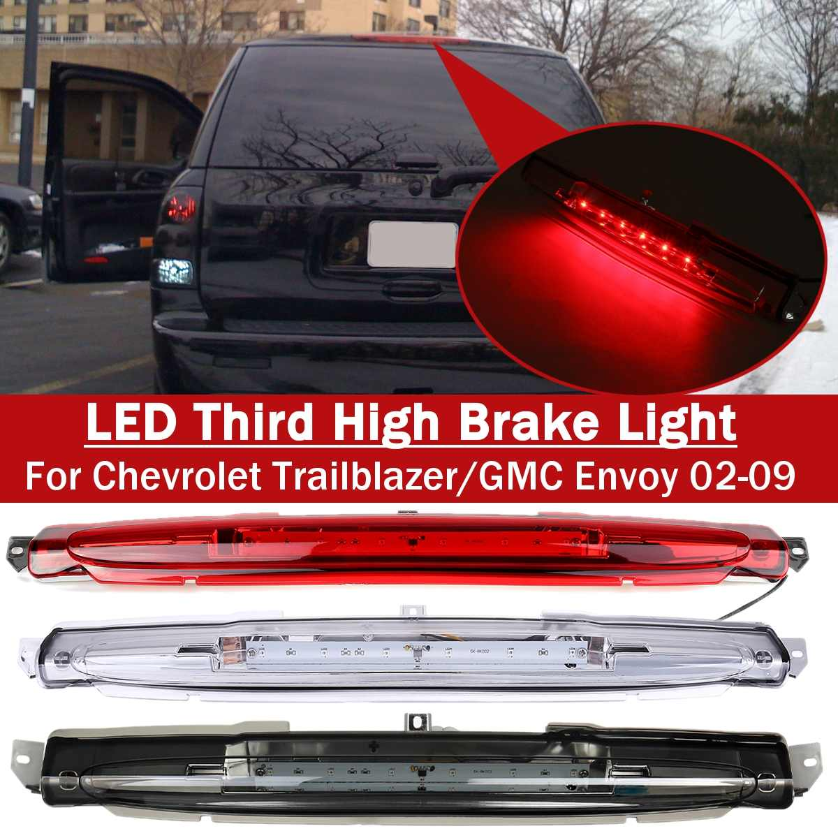 Halo Projector Clear Lens Housing Bumper Fog Light//Lamp For GMC 02-09 Envoy