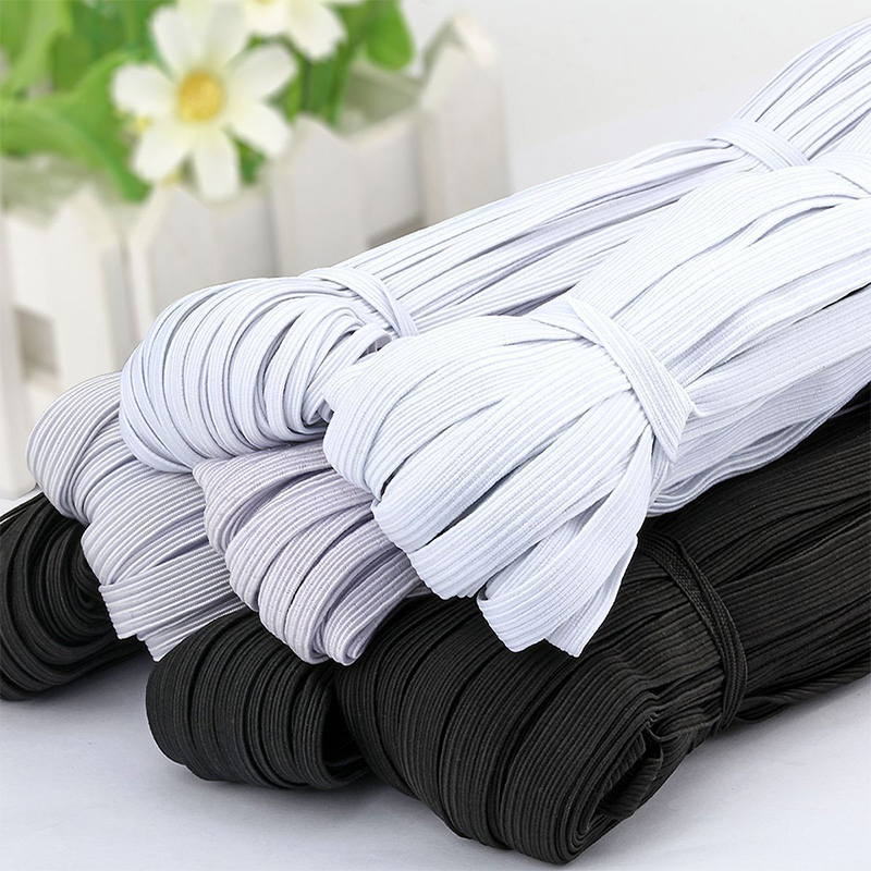 5m Width 3-15mm White Mask Elastic Band Spandex Belt Trim Sewing/Ribbon Clothes Flex Sewing Material for Shorts Skirt Trouse