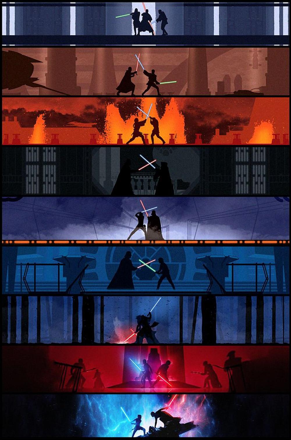 Custom Printing Canvas Wall Arts Star Wars Battles Poster Star